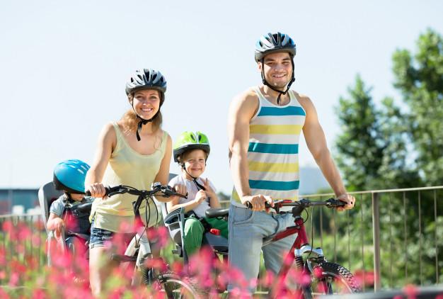 famille vélos